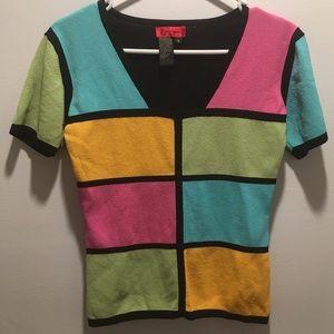 Vintage Carina 90's color-block top